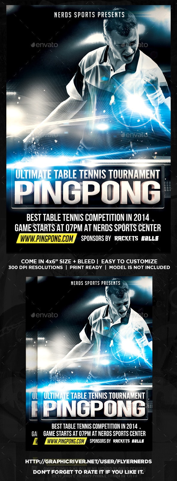 Pingpong Tournament Flyer - Sports Events