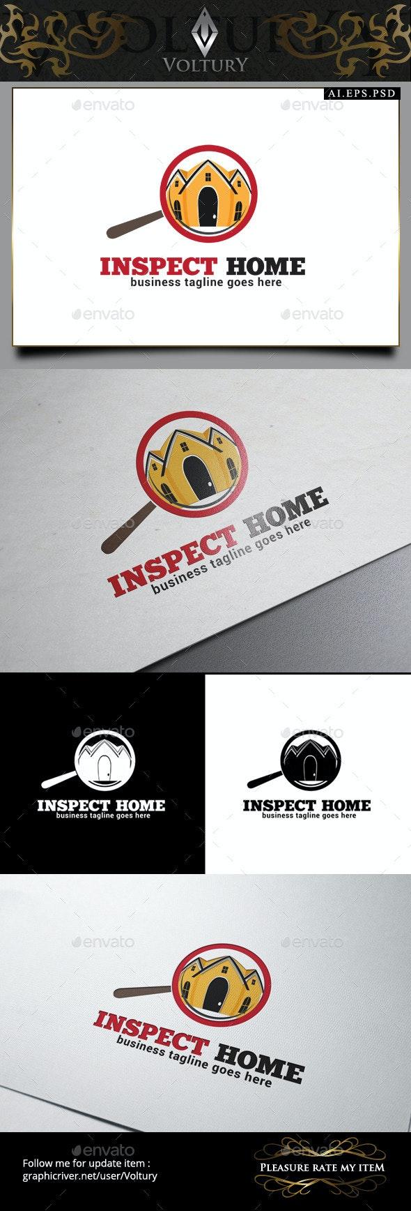 Inspect Home Logo - Buildings Logo Templates