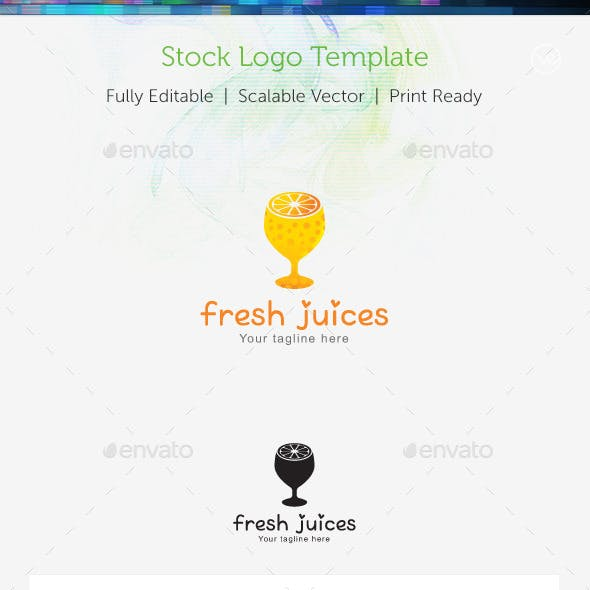 Fresh Juices Stock Logo Template