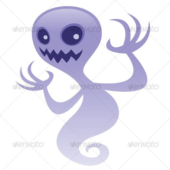 Grinning Ghost - Characters Vectors