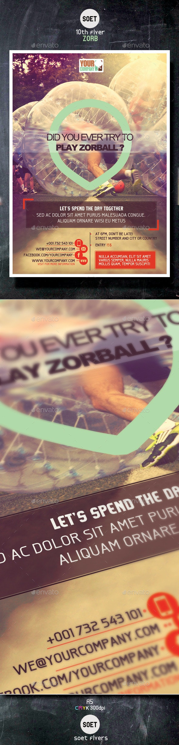 Zorb football Sport Template / Flyer - Sports Events