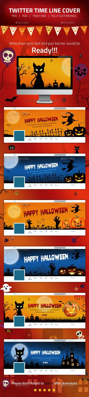 Halloween - Twitter Header Cover Designs - Twitter Social Media