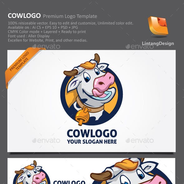 Cow Cartoon Logo