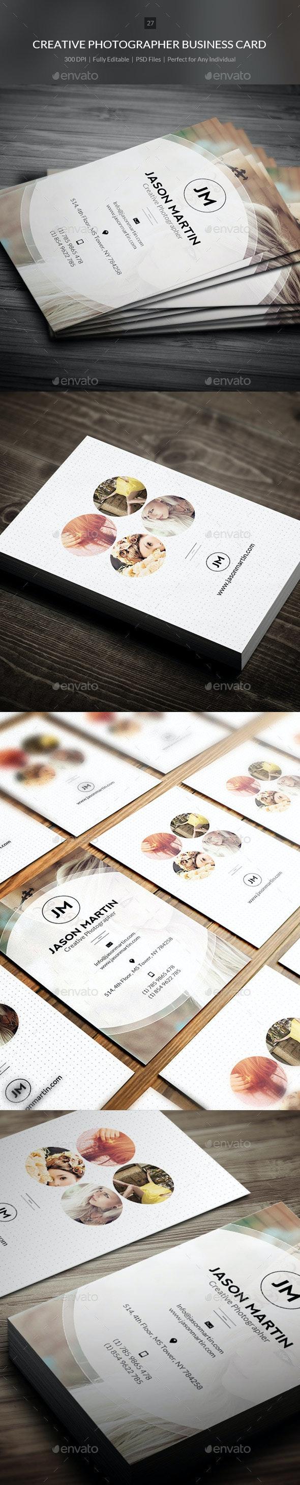 Creative Photogrpaher Business Card - 27 - Creative Business Cards