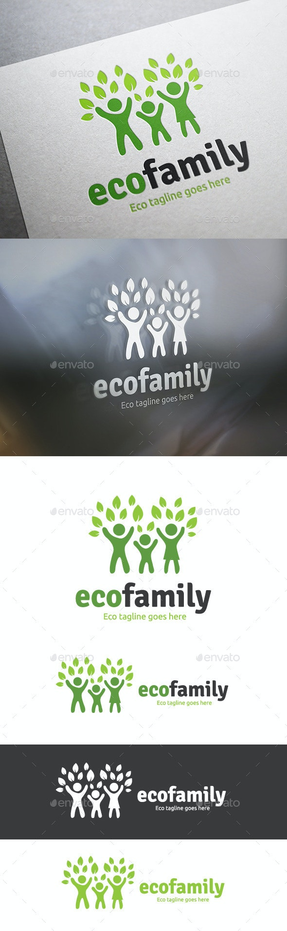 Eco Family - Humans Logo Templates