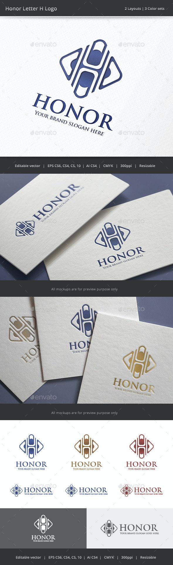 Honor Letter H Logo - Letters Logo Templates