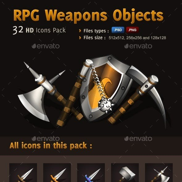 RPG Icons Pack - Weapons Objects