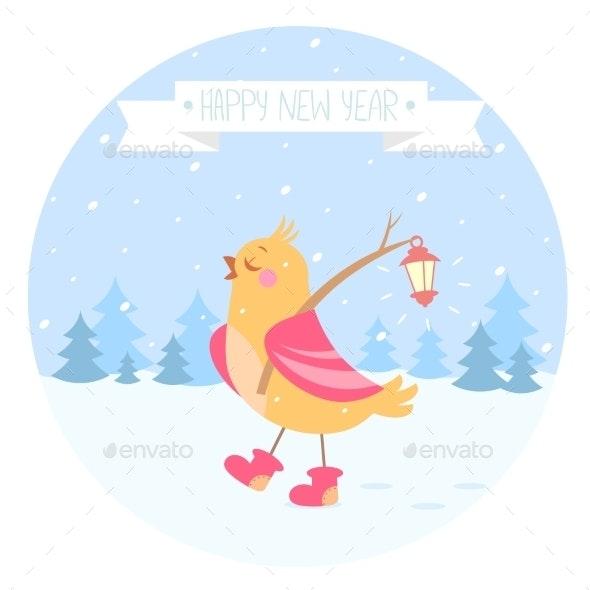 Bird New Year - Christmas Seasons/Holidays