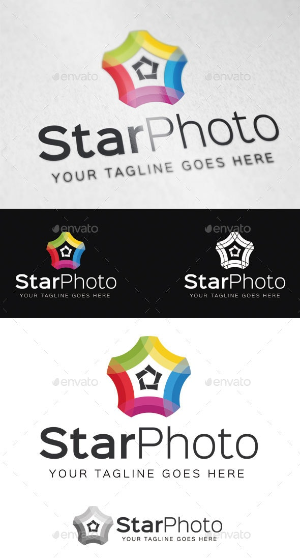 Star Photo Logo Template - Symbols Logo Templates