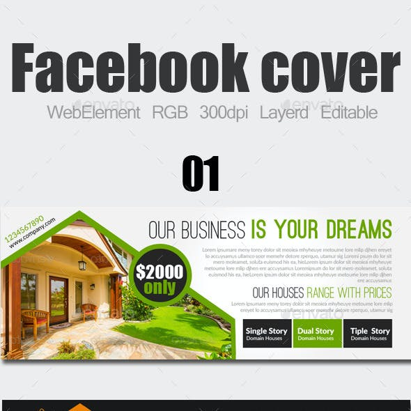 Real Estate Facebook Covers Bundle