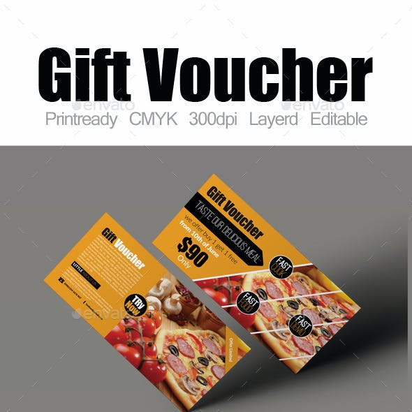 Restaurant Menu Gift Voucher Bundle