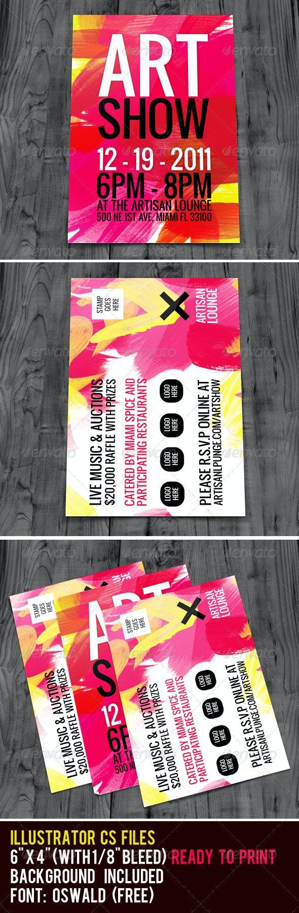 Art Show Flyer - Miscellaneous Events