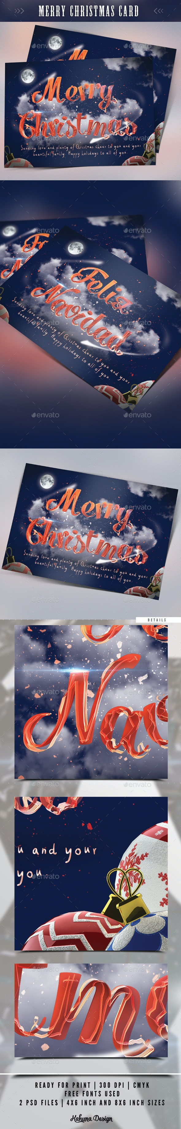 Merry Christmas Card - Holiday Greeting Cards