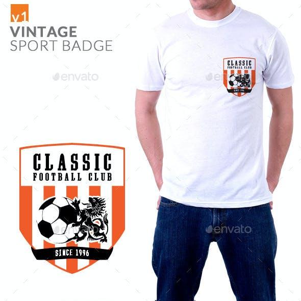 Vintage Sport Badge T-shirt