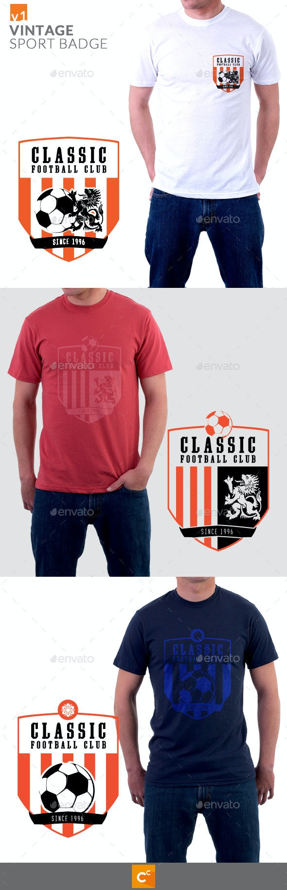 Vintage Sport Badge T-shirt - Sports & Teams T-Shirts