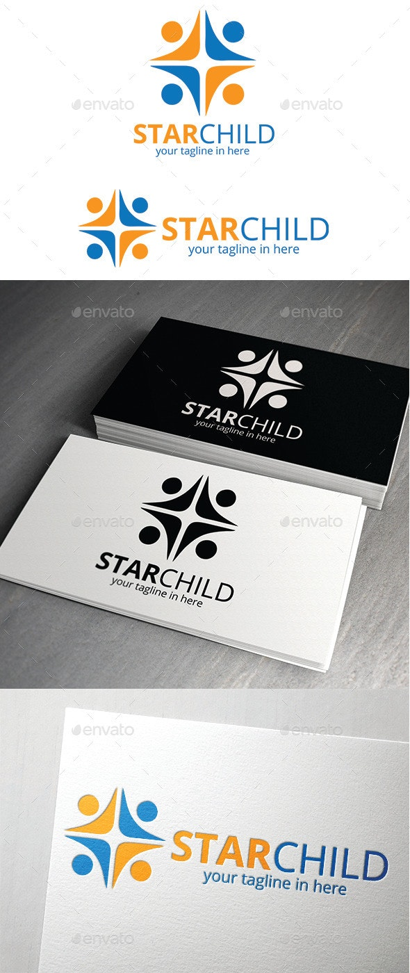 Star Child Logo - Logo Templates