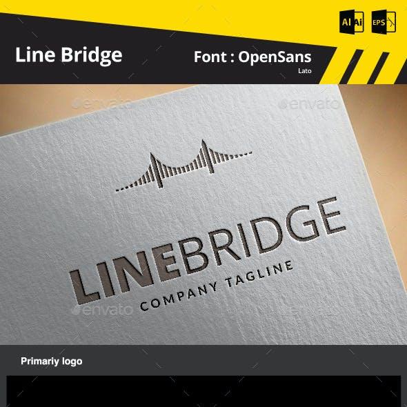 Line Bridge Logo Template