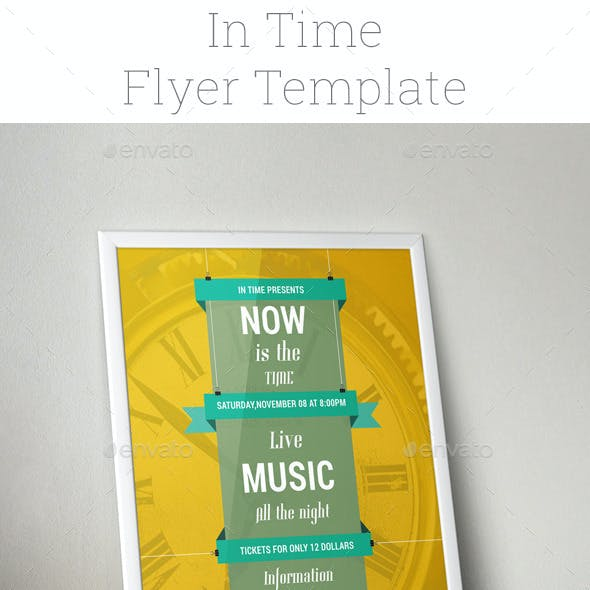 In Time Flyer Template