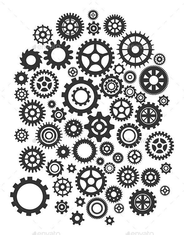 Gears - Web Elements Vectors