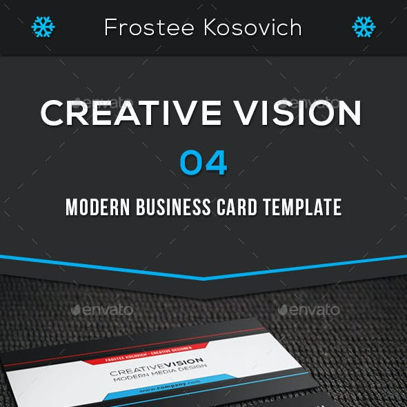 Creative Vision Modern Business Card Template 04