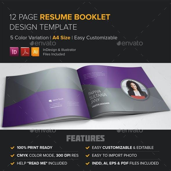 Resume Booklet Design (InDesign)