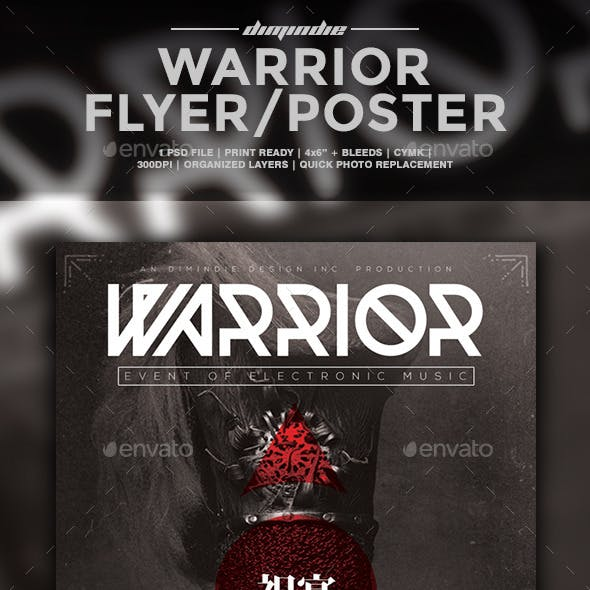 Warrior Flyer Template