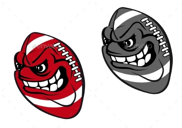 Rugby Cartoon Ball - Sports/Activity Conceptual