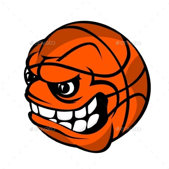 Basketball Cartoon Ball - Sports/Activity Conceptual