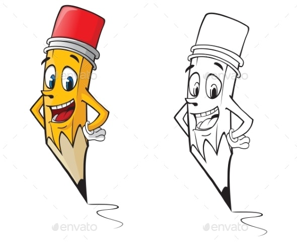 Cartoon Pencil - Miscellaneous Characters