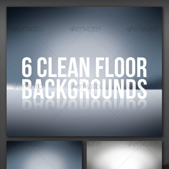 6 Clean Floor Reflect Backgrounds