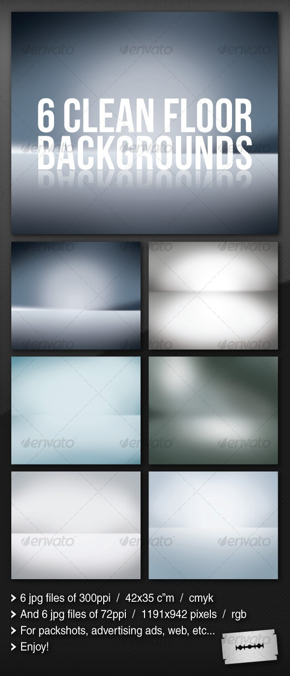 6 Clean Floor Reflect Backgrounds - Backgrounds Graphics