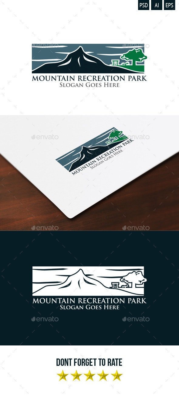 Mountain Recreation Park Logo - Nature Logo Templates