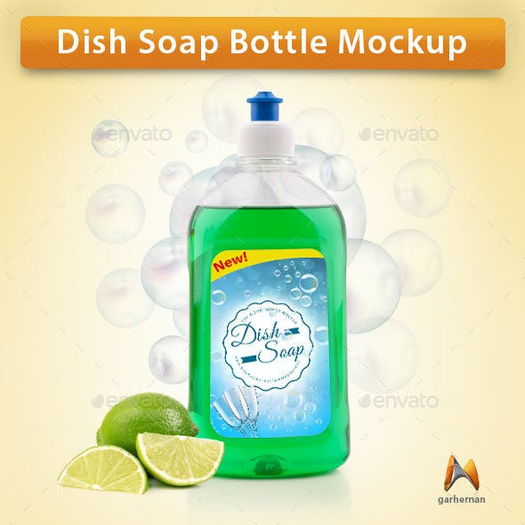 Dish Soap Bottle Mockup