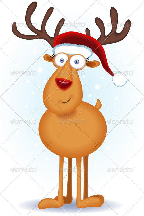 Christmas Reindeer - Characters Illustrations