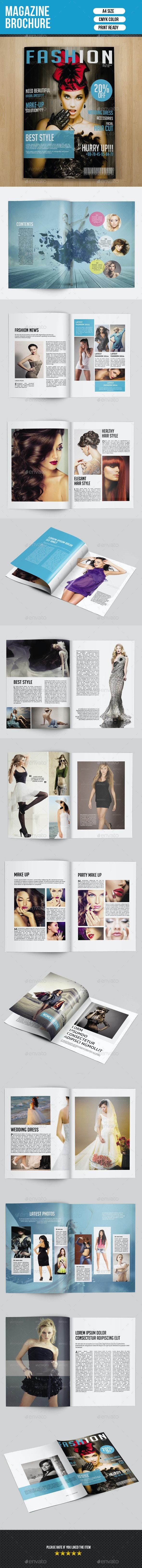 Fashion Magazine Template-V02 - Magazines Print Templates