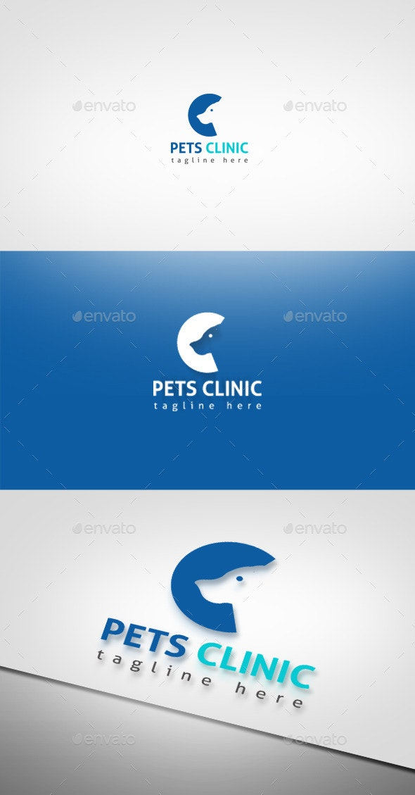 Pets Clinic - Animals Logo Templates
