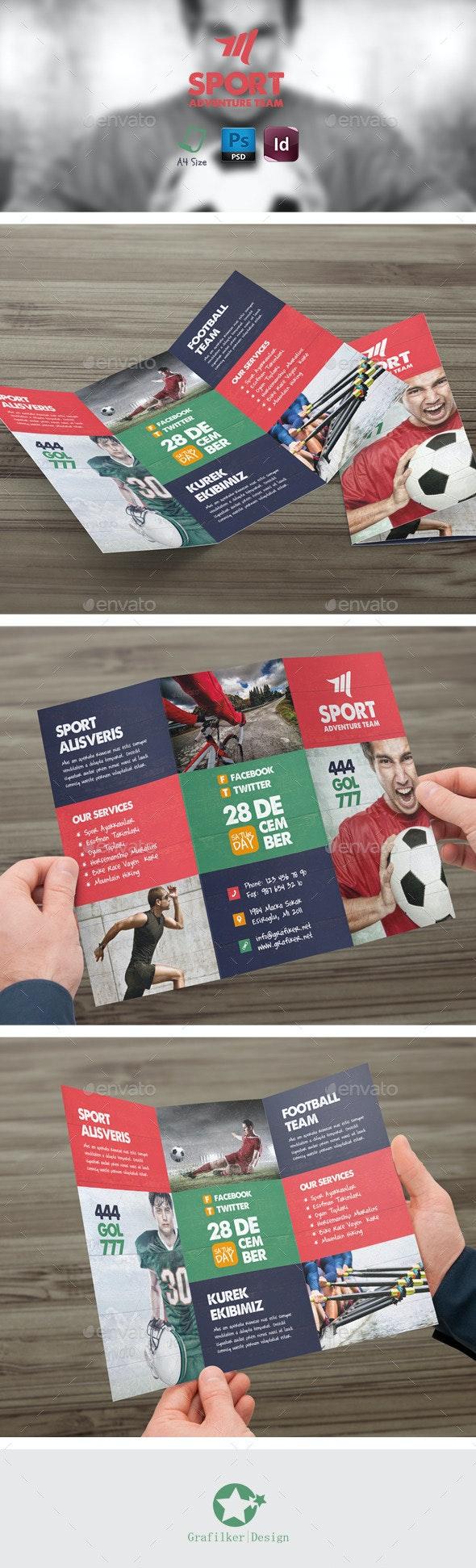 Sport Tri-Fold Templates - Brochures Print Templates