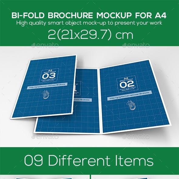 Bi Fold Brochure Mockup A4
