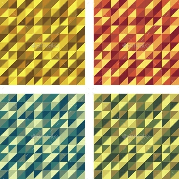 Set of Colorful Geometric Seamless Textures - Miscellaneous Vectors