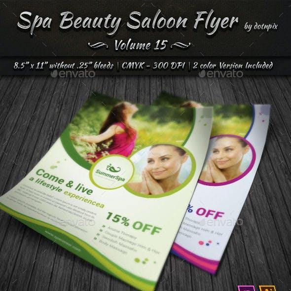 Spa & Beauty Saloon Flyer   Volume 15