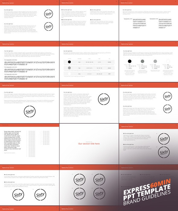 """""""Express"""" Power Point Template - Creative PowerPoint Templates"""