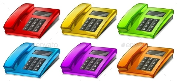 Colorful Telephones - Man-made Objects Objects