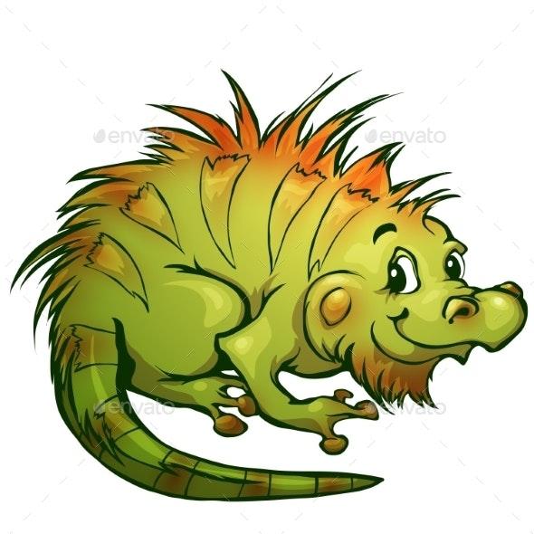 Cartoon Iguana - Animals Characters