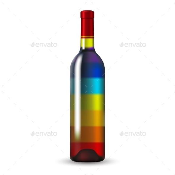 Color Glass Wine Bottle