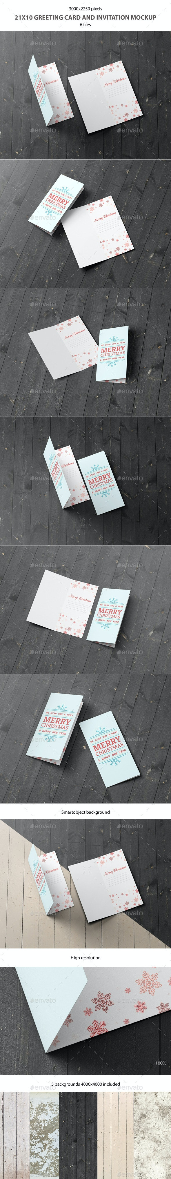21x10 Greeting Card and Invitation Mockup - Miscellaneous Print