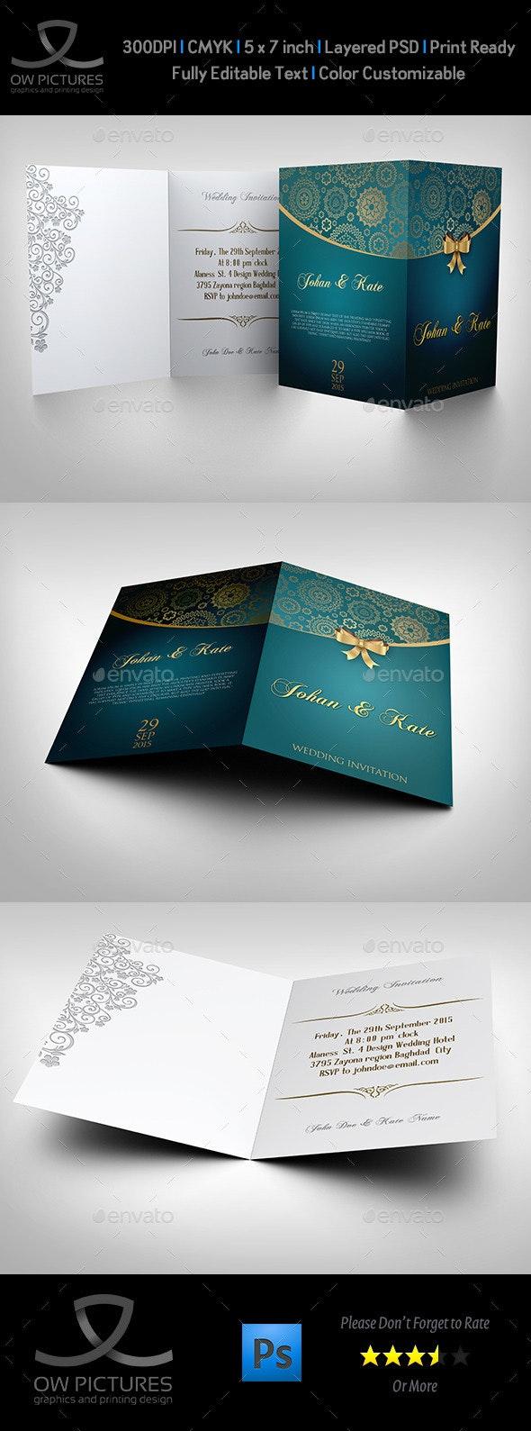 Wedding Invitation Card Template Vol.8 - Weddings Cards & Invites