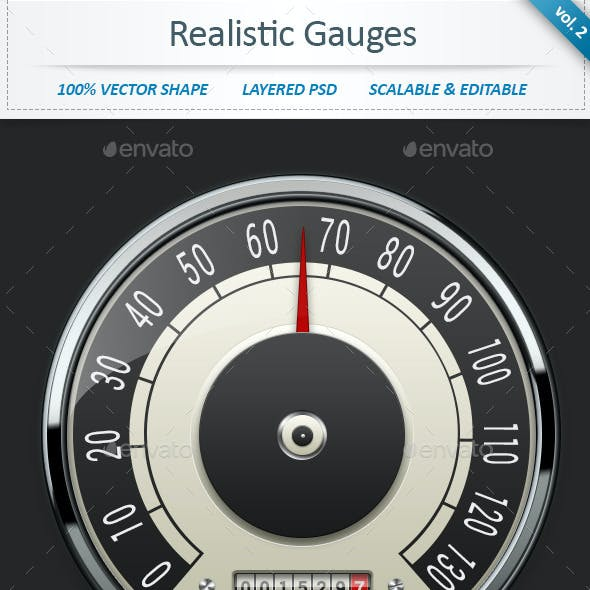 Realistic Car Gauges (vol 2)