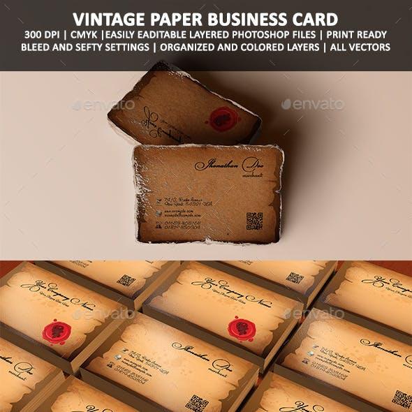 Royal Sealed Vintage Paper Business Card