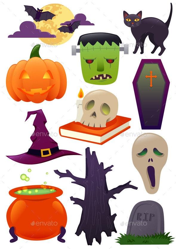 Halloween llustration Set - Halloween Seasons/Holidays