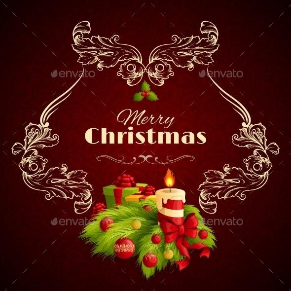 Christmas Retro Background - Christmas Seasons/Holidays